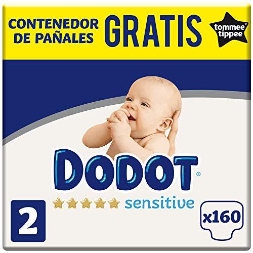 Dodot Sensitive Pañales Talla 2, 4-8 kg, 160 Pañales + GRATIS Contenedor de...