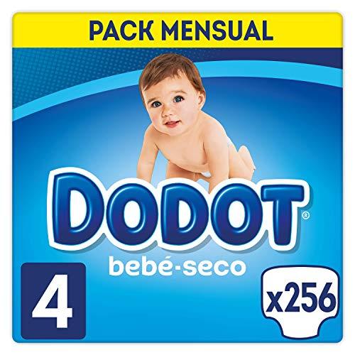 Dodot Bebé-Seco - Pañales Talla 4 (9-14 kg), 256 Pañales, El Unico Pañal Con...