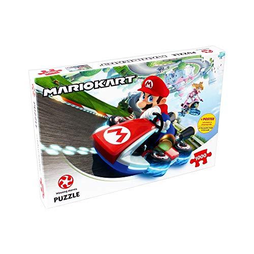 Puzle de 1000 Piezas de Mario Kart Funracer - Top Trumps - Rompecabezas para Niños y...