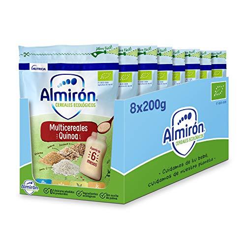 Almirón Cereales Infantiles Ecológicos Multicereales con Quinoa, 200g, 8 Unidades...