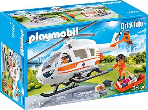 Playmobil - City Life Helicóptero de Rescate, Multicolor (70048)