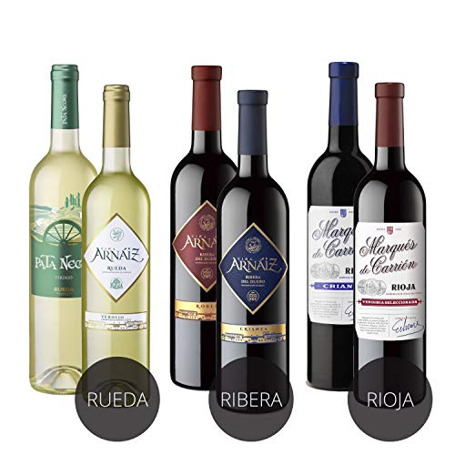 Estuche de D.O 3 Erres Surtido de 6 Vinos con D.O Rueda, D.O Ribera del Duero y D.O...