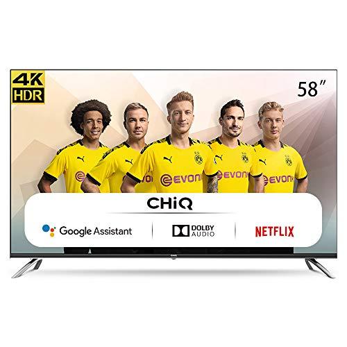 CHiQ Televisor Smart TV LED 58 Pulgadas, Android 9.0, Smart TV, UHD, 4K, WiFi,...
