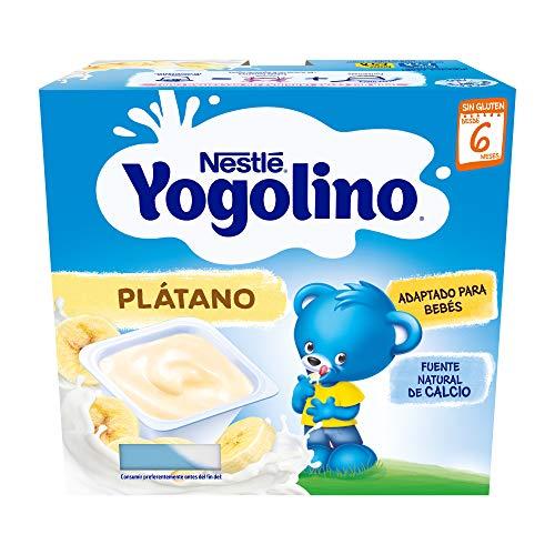 Nestlé Yogolino Postre lácteo con Plátano, Para bebés a partir de 6 meses,...