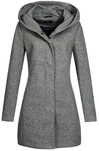 Only onlSEDONA Light Coat OTW Noos Abrigo, Gris (Dark Grey Melange), 38 (Talla del...