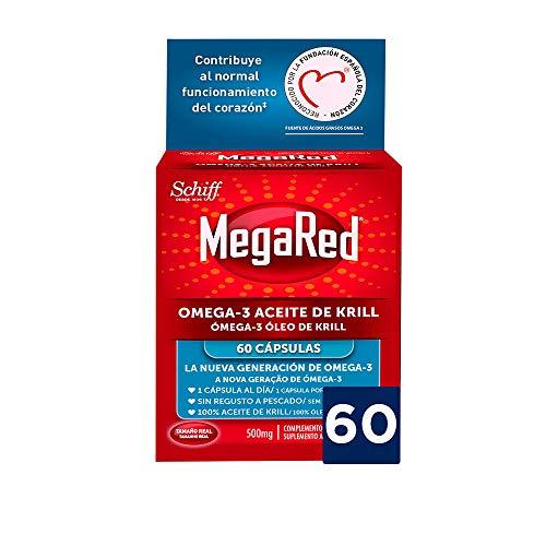 Megared Omega 3 - Aceite de Krill Complemento Alimenticio sin Regusto a Pescado 60...