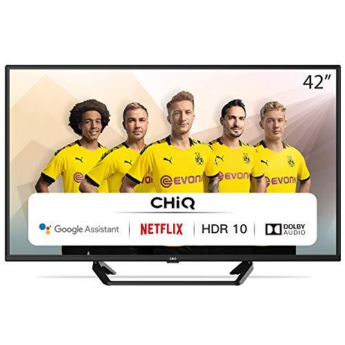 CHiQ Televisor Smart TV LED 42 Pulgadas, FHD, HDR10/HLG, Android, WiFi, Bluetooth,...