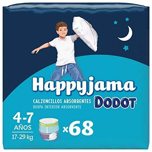 Dodot Pañales HappyJama para Niño 4 -7 Años (17-29 kg), 68 Unidades, Pañal con...