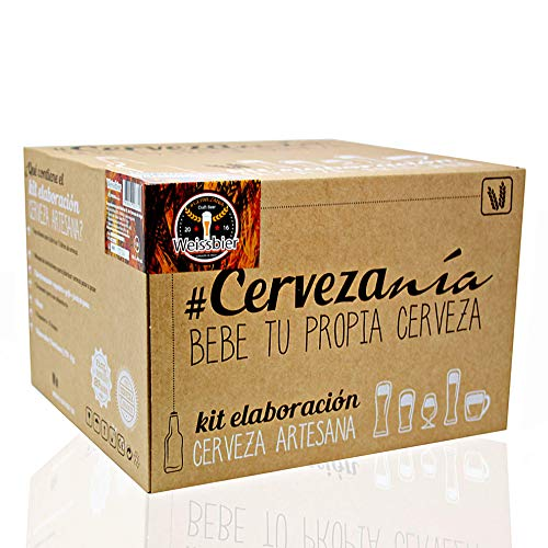 #Cervezanía - Kit de elaboración de cerveza Weissbier trigo. Elabora 5 litros de...