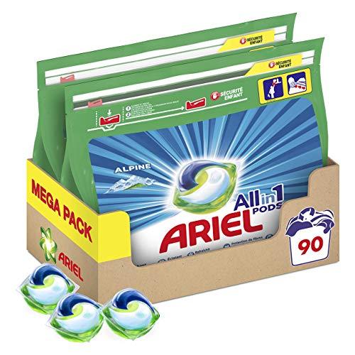 Ariel Allin1 PODS Frescor De Los Alpes Detergente En Cápsulas, 72 Lavados, Con...