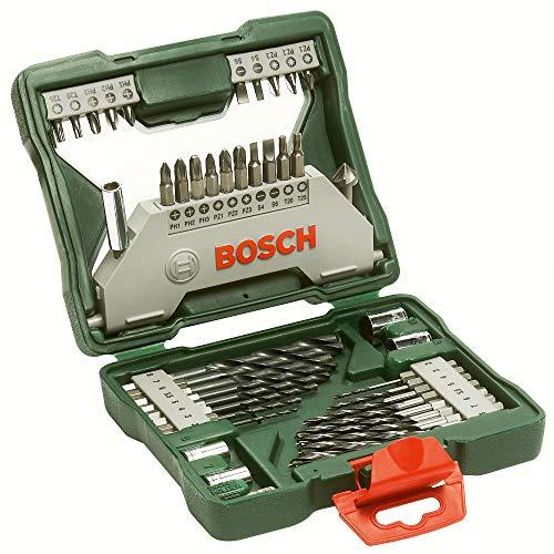Bosch X-Line - Maletín de 43 unidades para taladrar y atornillar, hexagonal