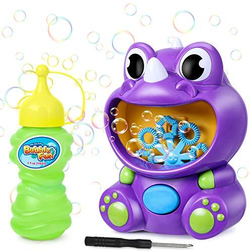 joylink Máquina de Burbujas Niños, Portátil Dinosaurio Soplador de Burbujas...