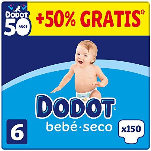 DODOT Bebé-Seco - Pañales Talla 5, 150 Pañales, +13kg, BOX ANIVERSARIO +50% GRATIS