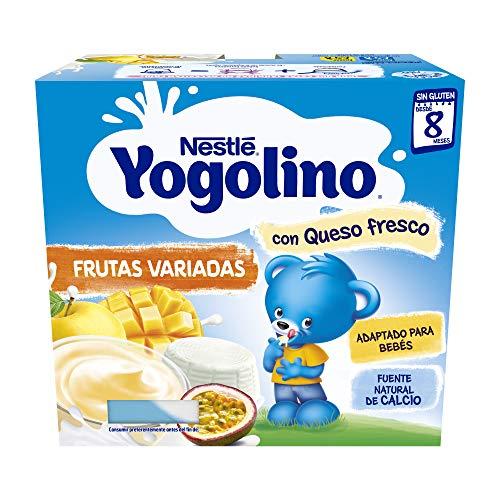 Nestlé Yogolino Postre lácteo Frutas variadas con queso - Para bebés a partir de 8...
