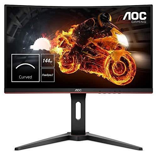 "AOC C24G1 - Monitor gaming curvo sin marcos de 24"" Full HD e-Sports (1920x1080, VA,..."