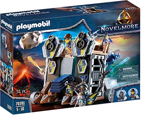 PLAYMOBIL Novelmore 70391 Fortaleza Móvil Novelmore, Para Niños de 4 y 10 Años de...