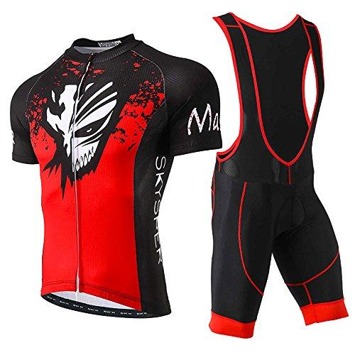 SKYSPER Ciclismo Maillot Hombres Jersey + Pantalones Cortos Culote Mangas Cortas de...