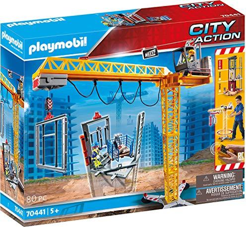 PLAYMOBIL- City Action Grúa de Construcción con Mando a Distancia RC, A Partir de 5...
