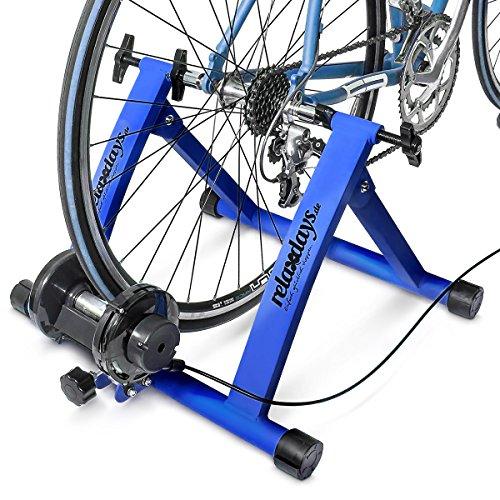 Relaxdays, convierte bicicleta común a estática, Mide: 54 x 46 x 20 cm, Azul,...