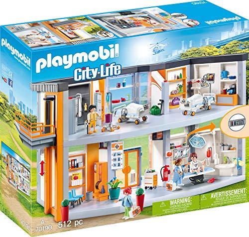 Playmobil- City Life: Gran Hospital Set Juguetes, Multicolor, Talla Única (70190)
